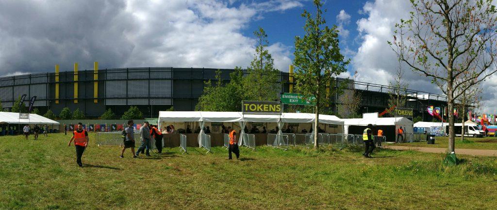 Elrow Town Festival, London 2017, Izettle Till System Area